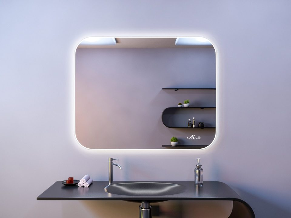 Зеркало с подсветкой XL