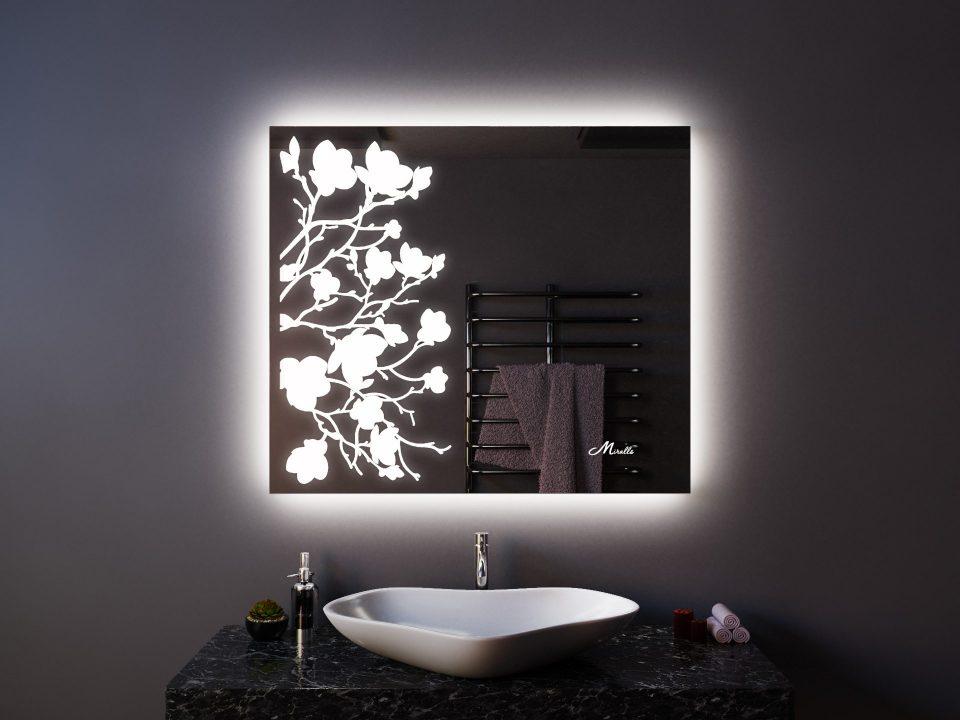 Зеркало с подсветкой в эко-стиле Flowers