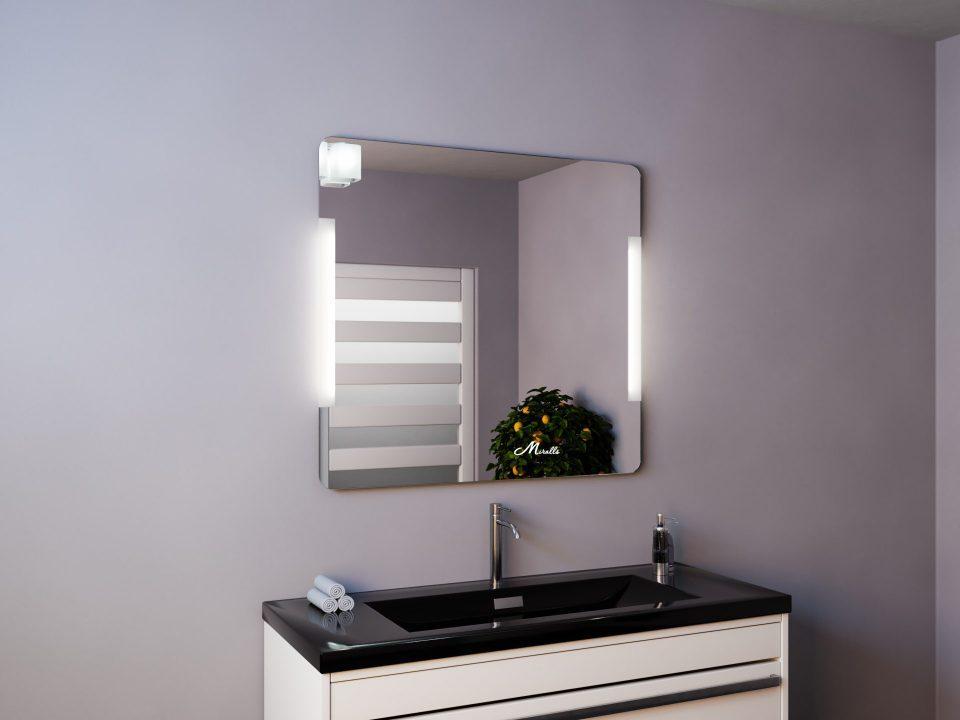 Зеркало с боковыми светильниками Bravus