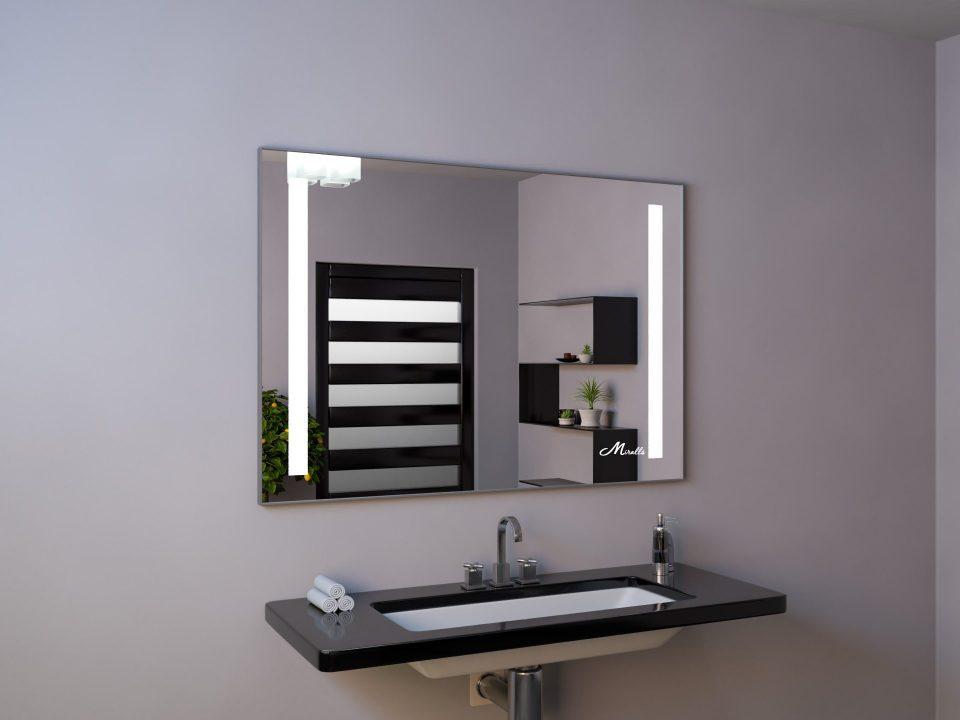 Зеркало со встроенными световыми полосами Lora Extra