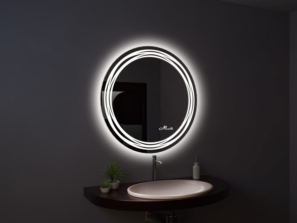 Круглое зеркало с подсветкой Arena