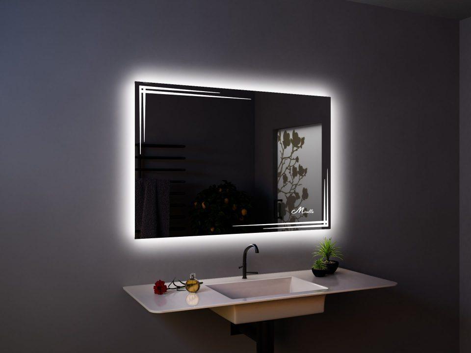 Прямоугольное зеркало с подсветкой Crocus
