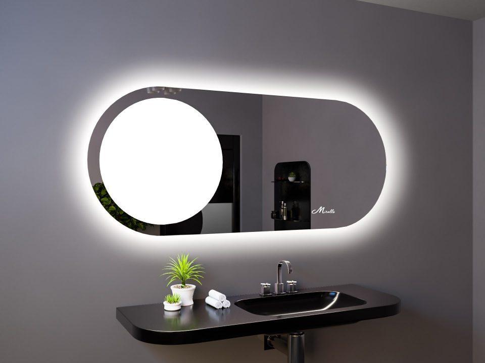 Овальное зеркало с подсветкой Luna