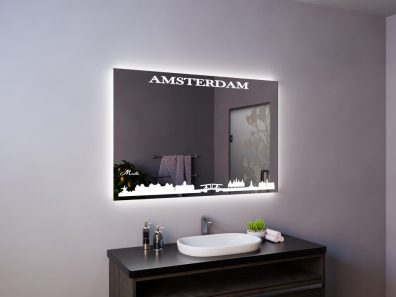 Зеркало со световым рисунком Amsterdam