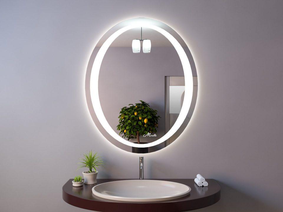Овальное зеркало с подсветкой Lake