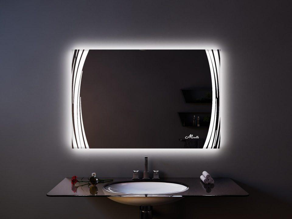 Прямоугольное зеркало с подсветкой Anastasia