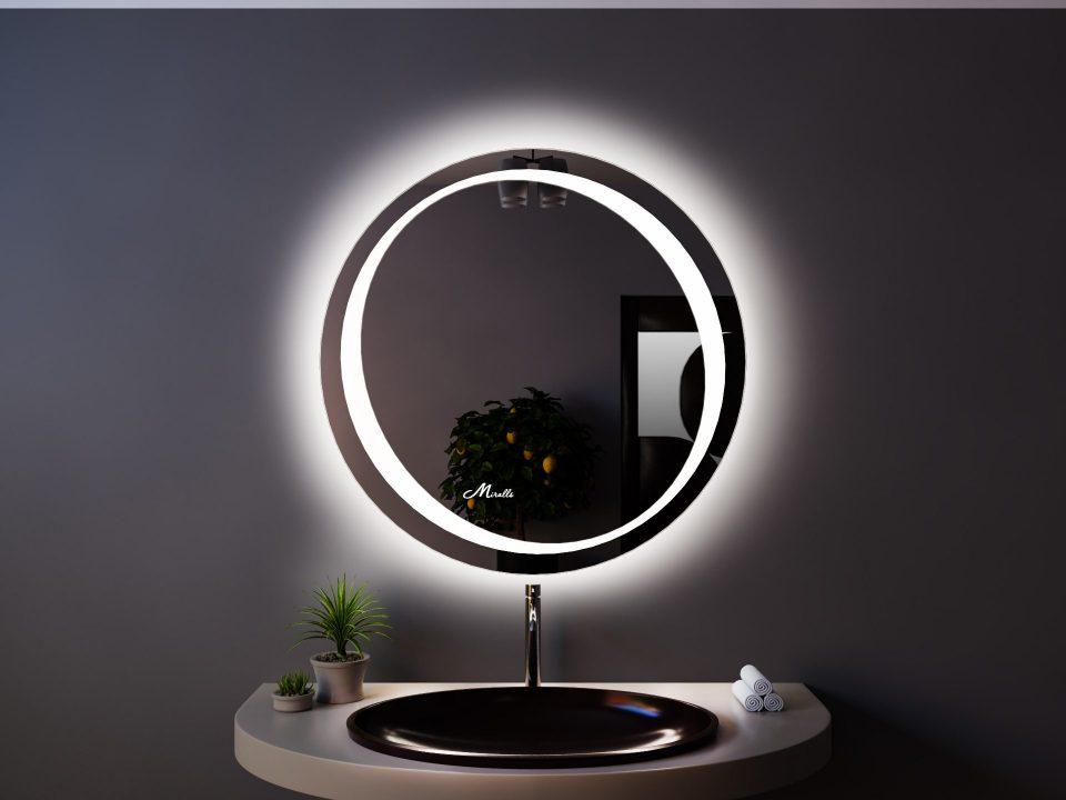 Круглое зеркало с подсветкой Belt