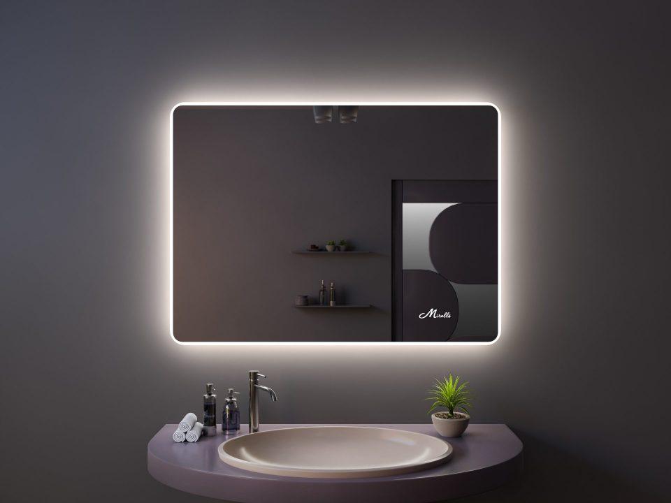 Зеркало с подсветкой в стиле минимализм Light