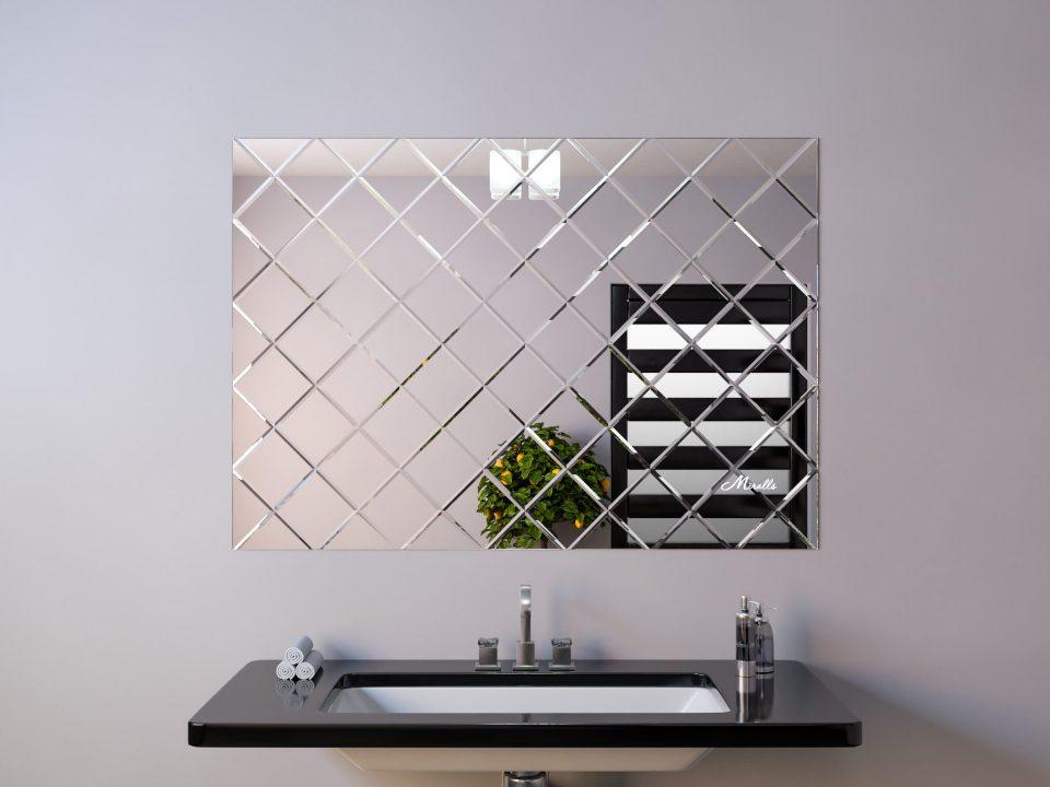 Зеркальное панно с фацетом фото 2