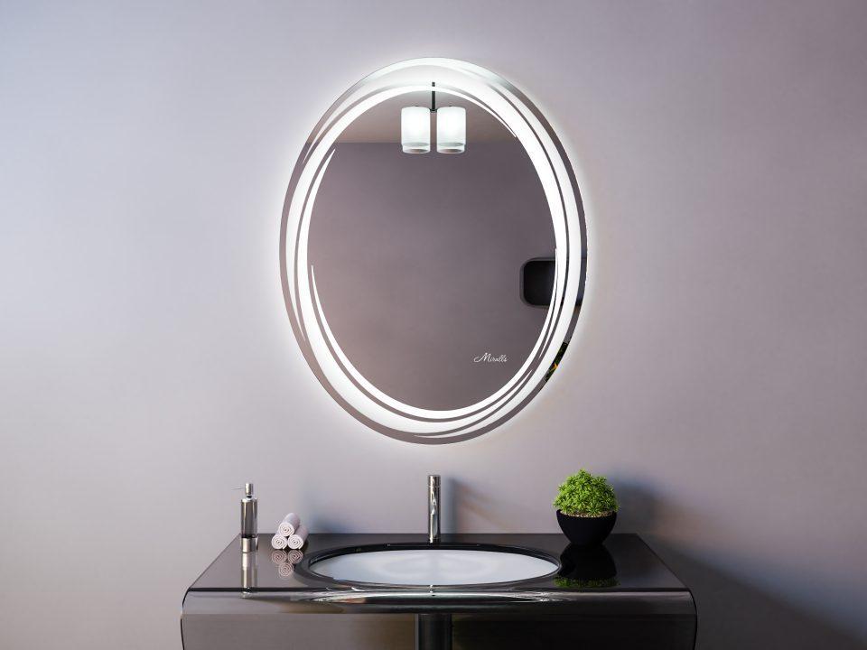 Овальное зеркало с подсветкой Sofia