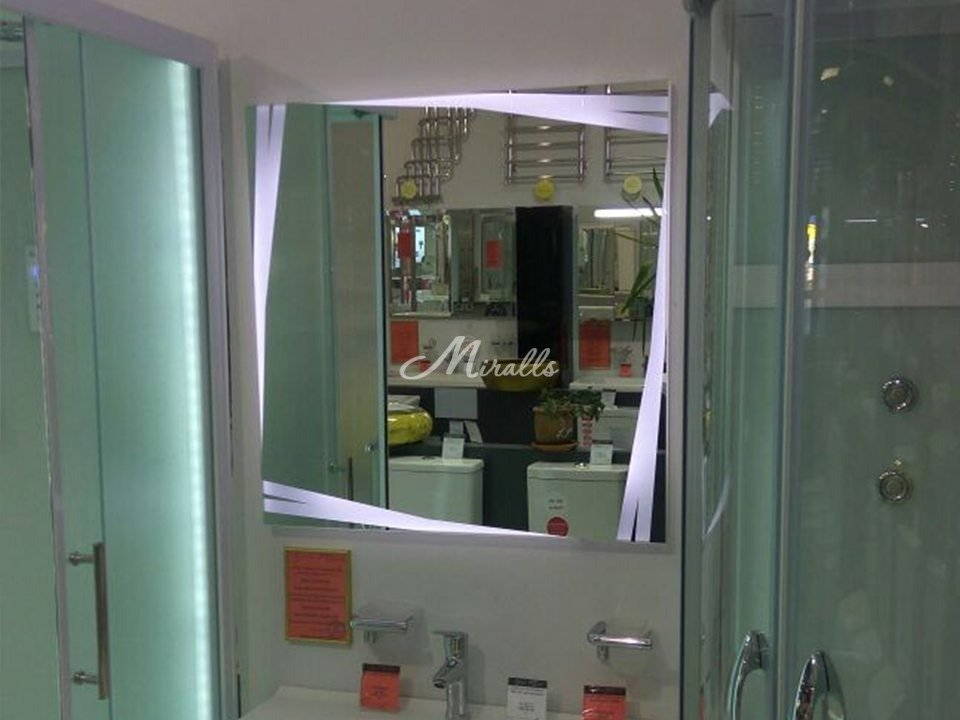 Зеркало с подсветкой в стиле авангард Malevich