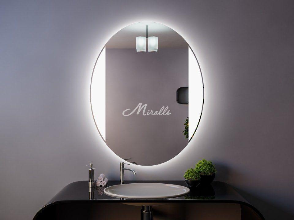 Овальное зеркало с подсветкой Margo Extra