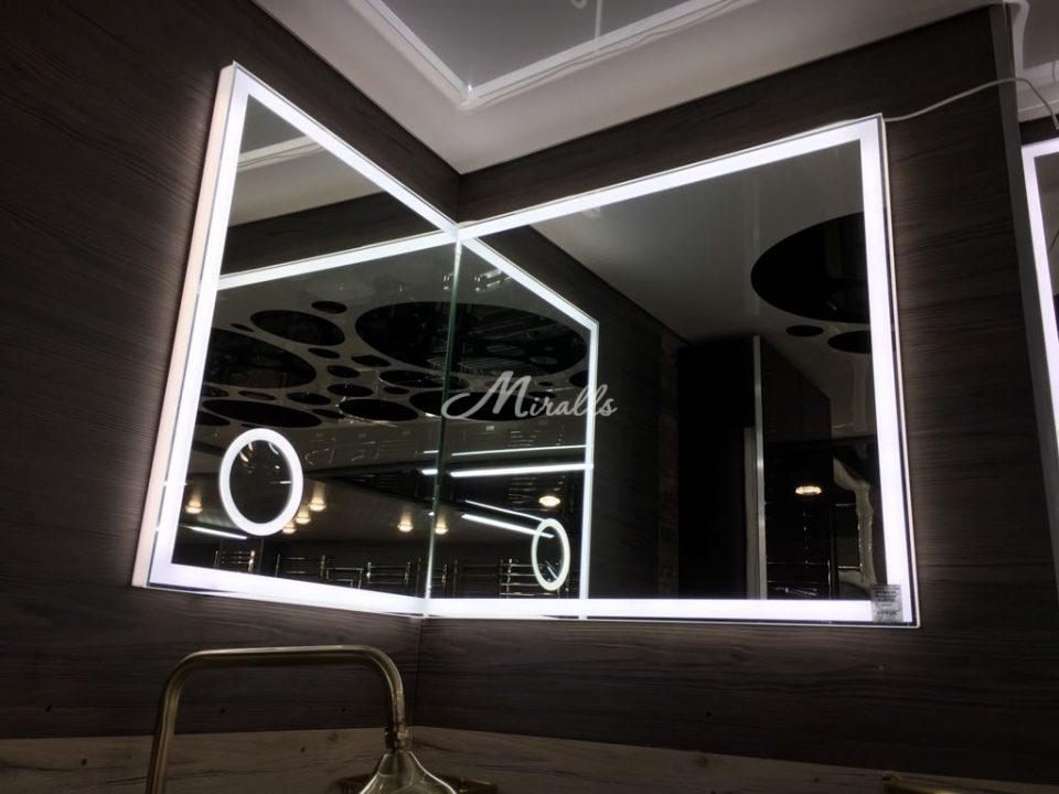 Угловая модификация зеркала Murano Extra с увеличительным зеркалом (ЖК Каскад)