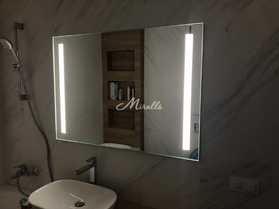 Зеркало Lora Extra с двумя светящимися полосами