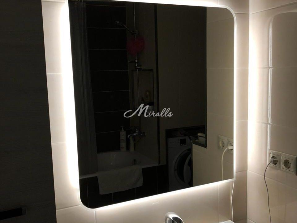 Модель зеркала Sabina с пескоструйным рисунком по краям