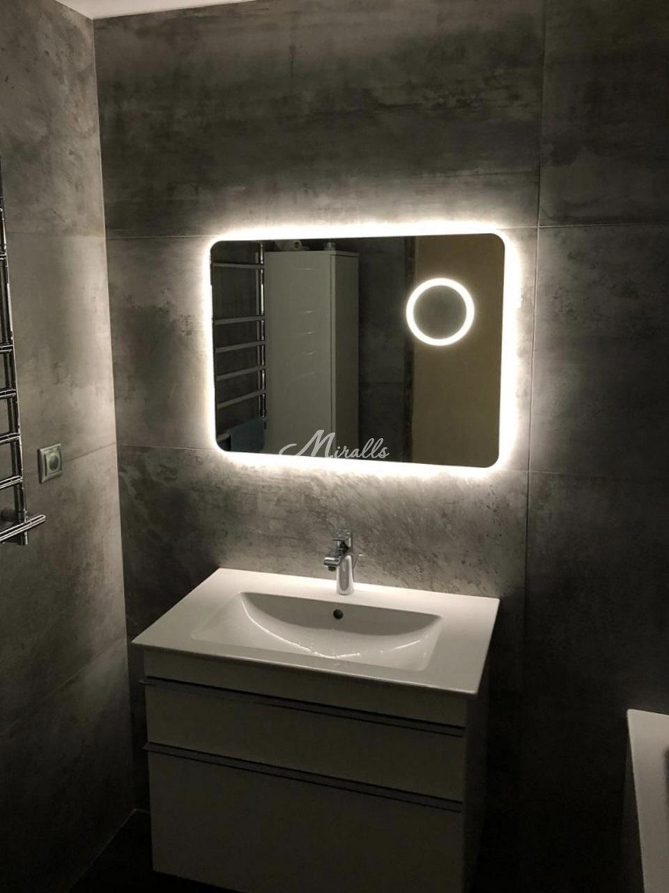 Зеркало XL с увеличительным зеркалом в частной квартире (ЖК Митино Парк)