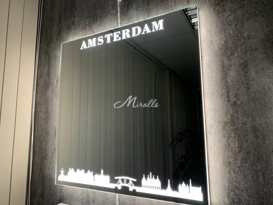 Зеркало Amsterdam с подсветкой 6000K (холодный свет)