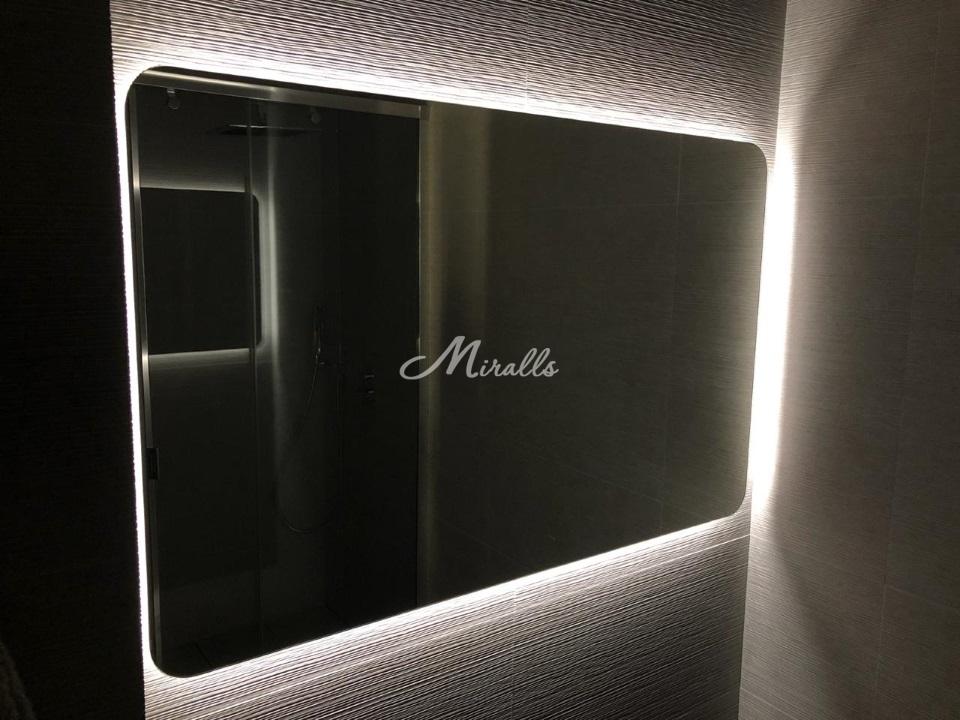 Зеркало Lux со скругленными углами