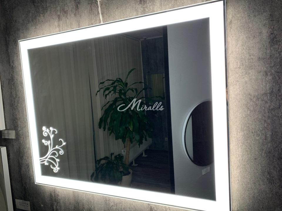 Зеркало Wood с подсветкой 6000K (холодный свет)