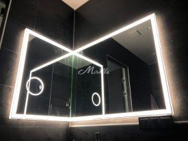 Зеркало Murano Extra в угловой модификации в частной квартире (ЖК Level)