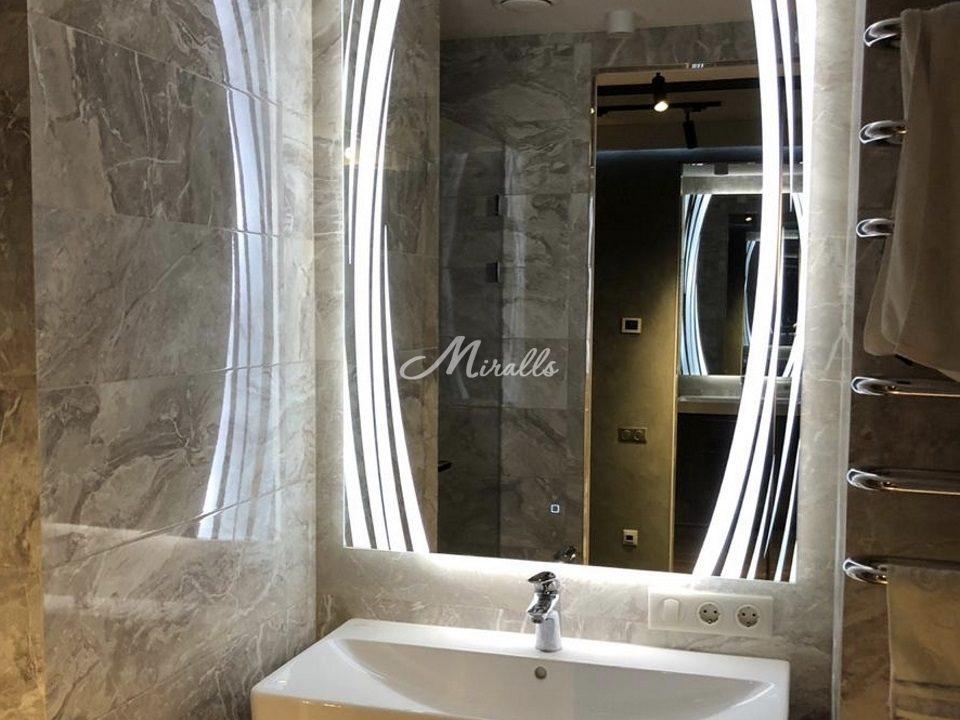 Зеркало Anastasia в интерьере ванной комнаты
