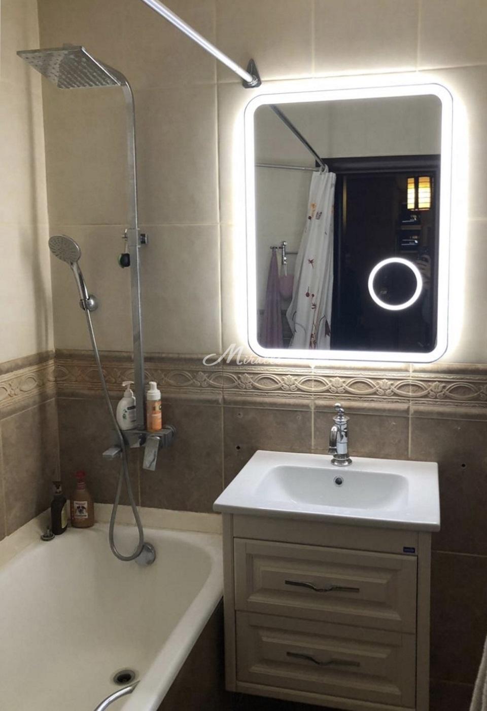 Зеркало Camelia в ванной комнате частной квартиры (Жемчужина Зеленограда)