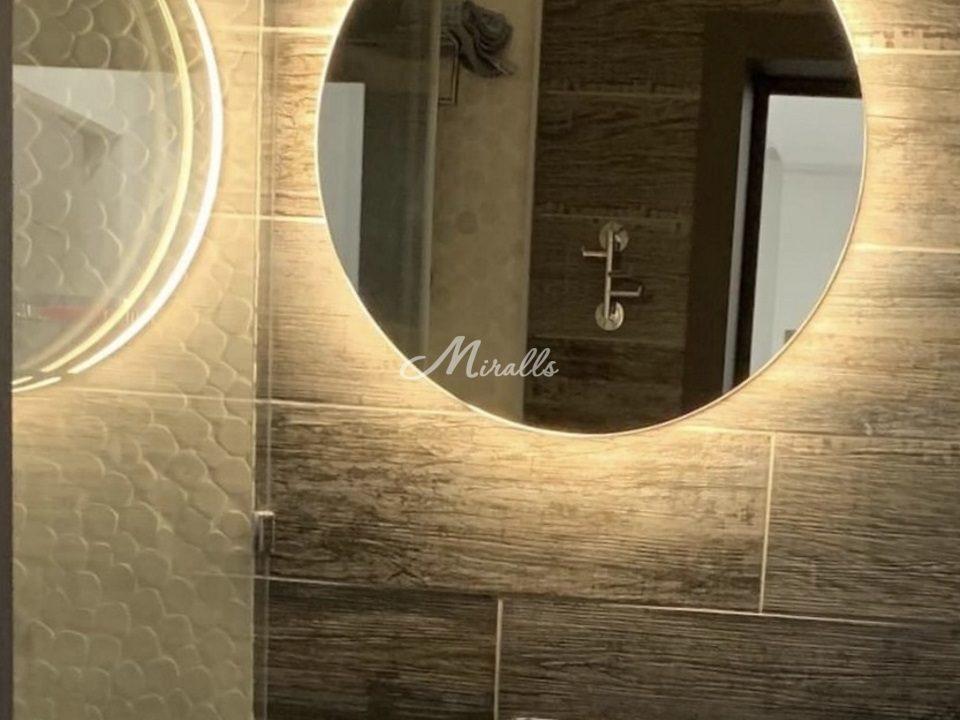 """Круглое зеркало Eclipse с """"теплым"""" вариантом подсветки"""