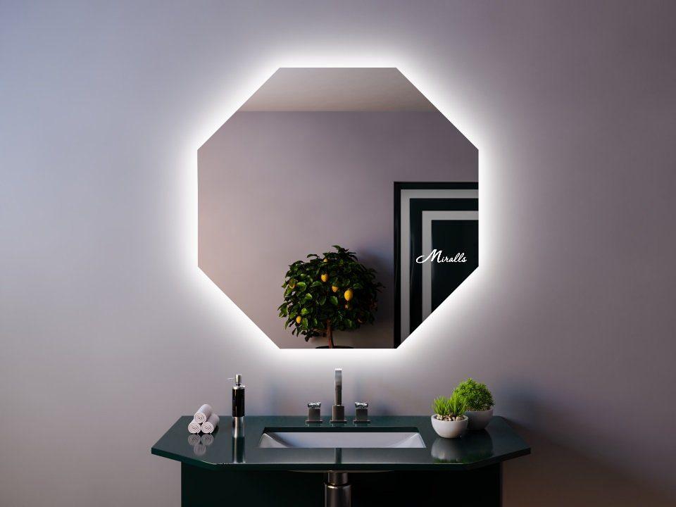 Зеркало с подсветкой в стиле хай-тек Loft Extra