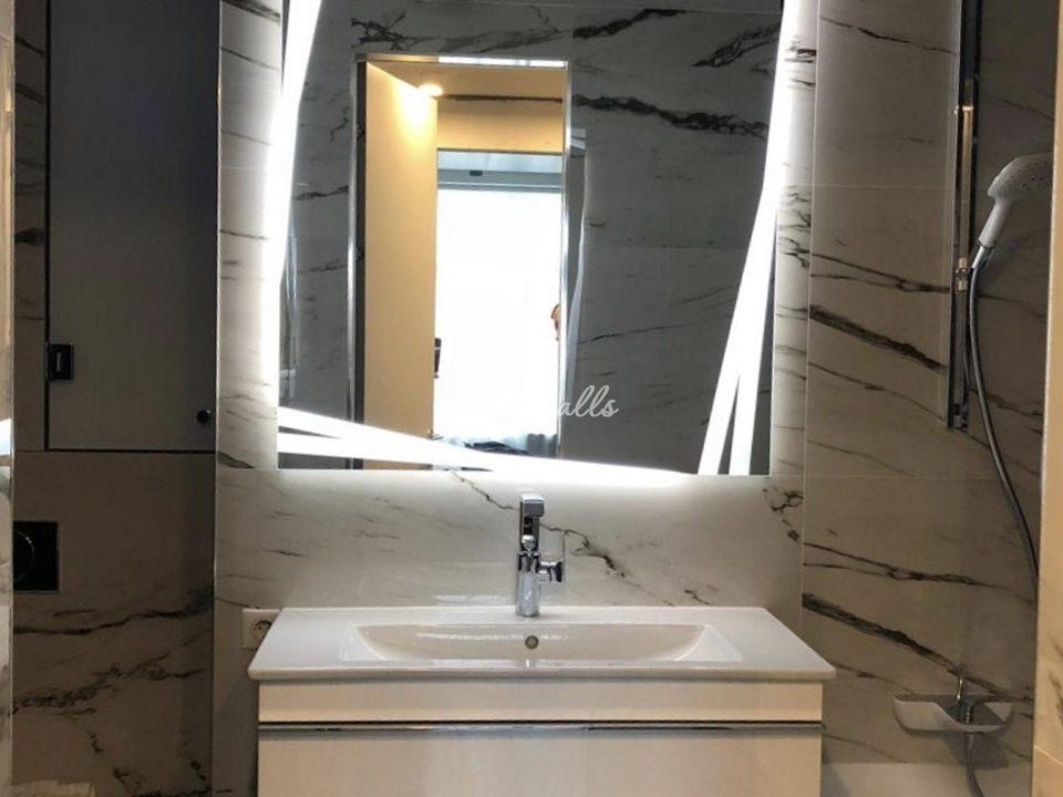 Зеркало Malevich в интерьере ванной комнаты
