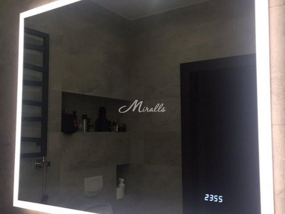 Зеркало с подсветкой Murano в интерьере ванной комнаты
