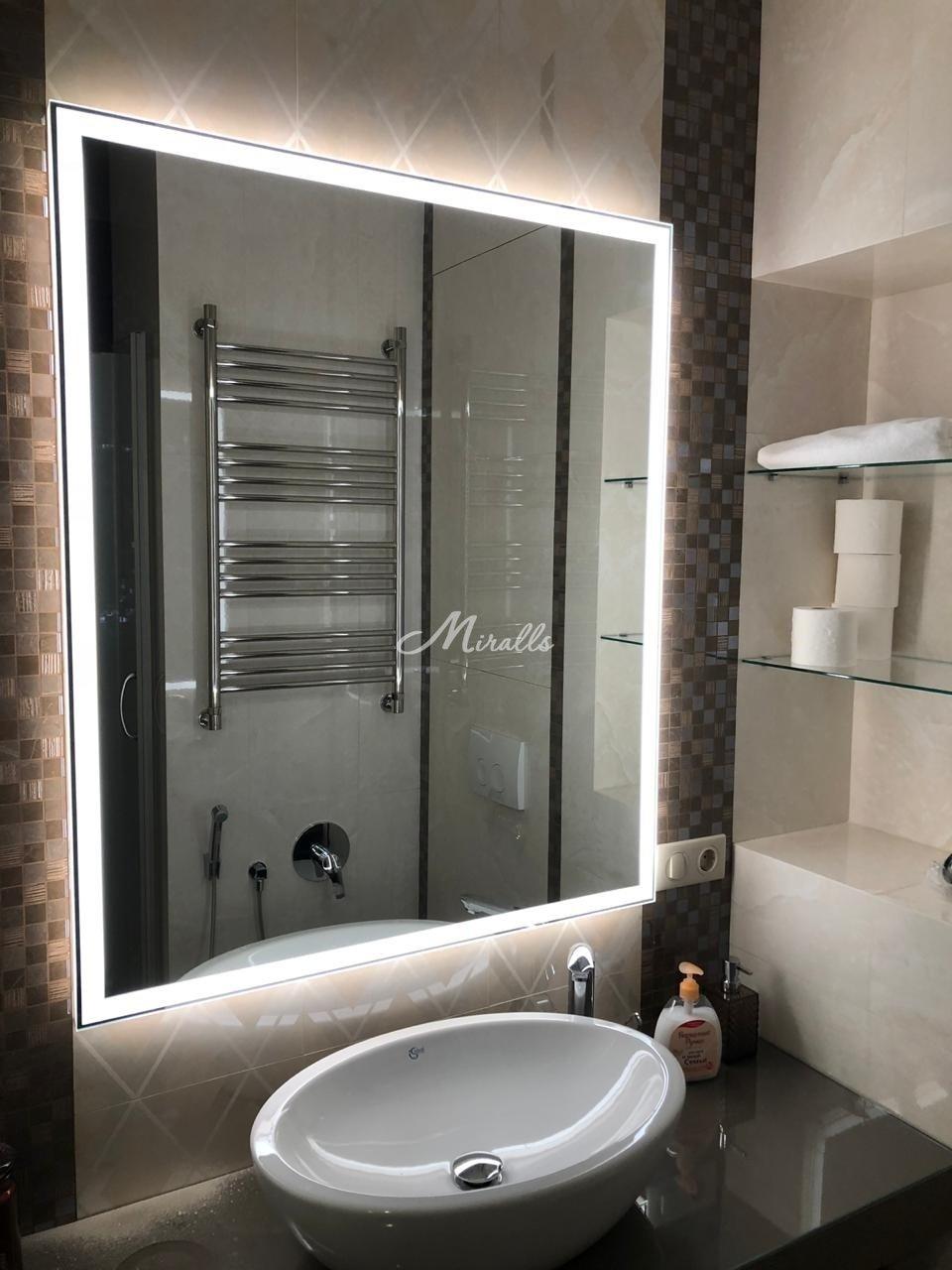 Зеркало Murano Extra в ванной комнате частной квартиры (ЖК Мосфильмовская)