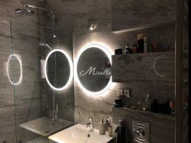 Зеркало Ring в ванной комнате частной квартиры (ЖК Ярославский)