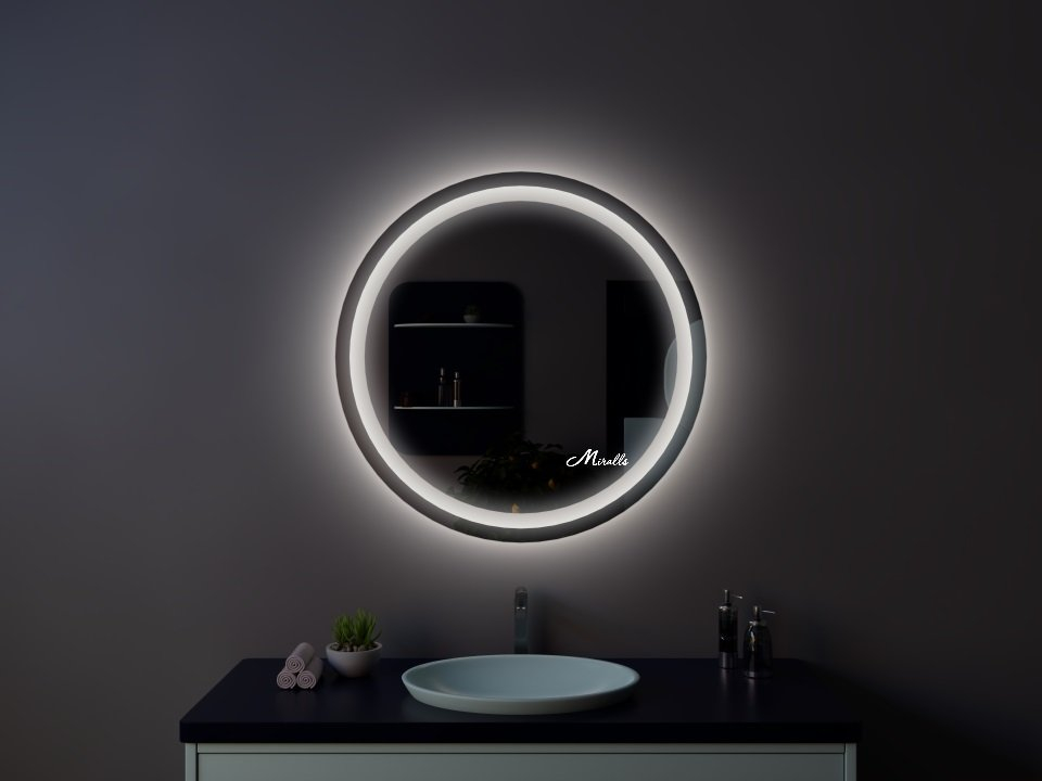 Круглое зеркало с подсветкой Tube