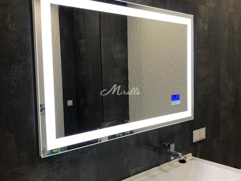 Зеркало Edging с сенсорными часами после монтажа (ЖК Only)