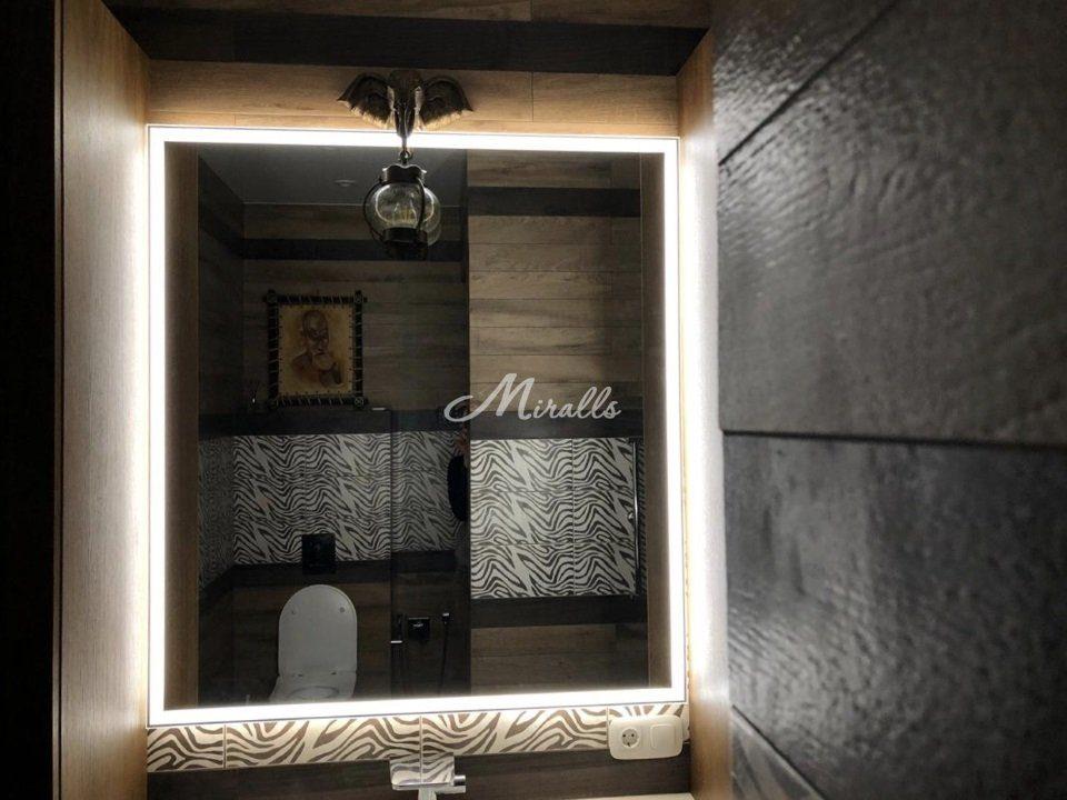 Зеркало Murano Extra в санузле частной квартиры