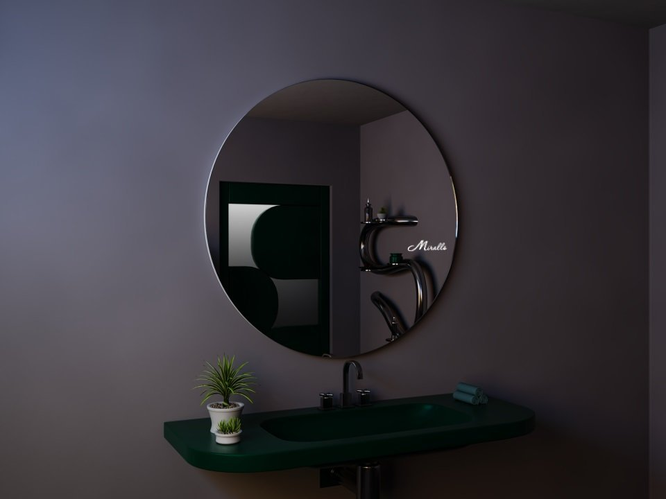 Круглое зеркало без подсветки Portal