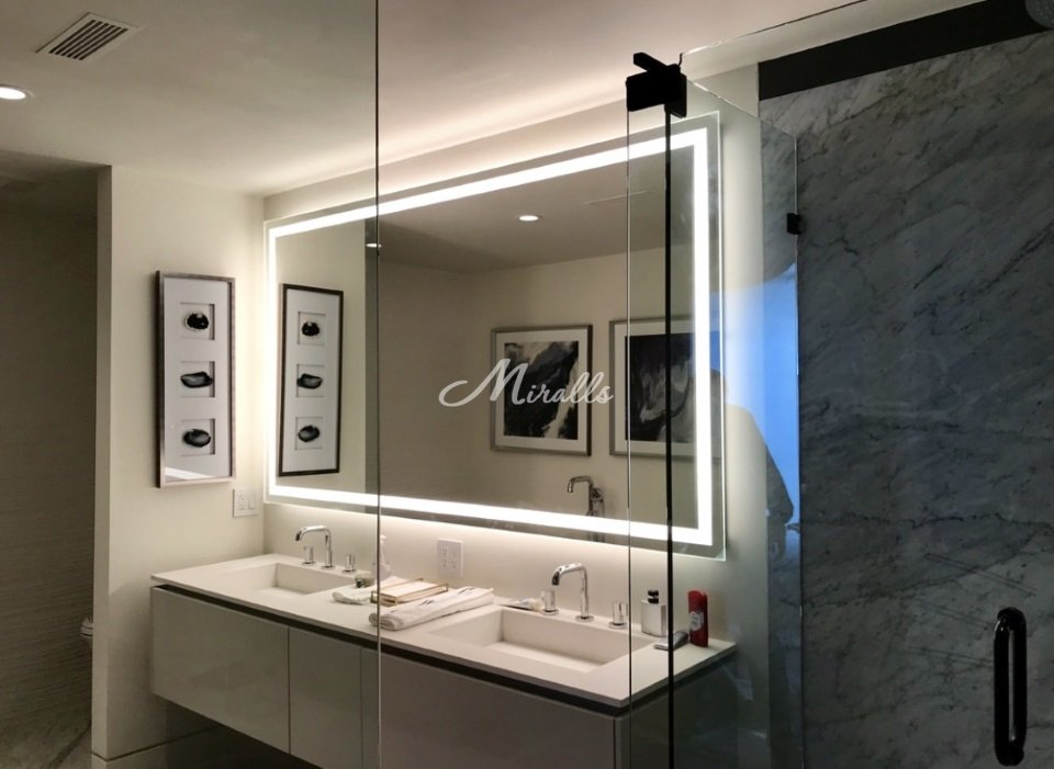 Зеркало Edging в частной квартире (ЖК Орехово-Борисово)