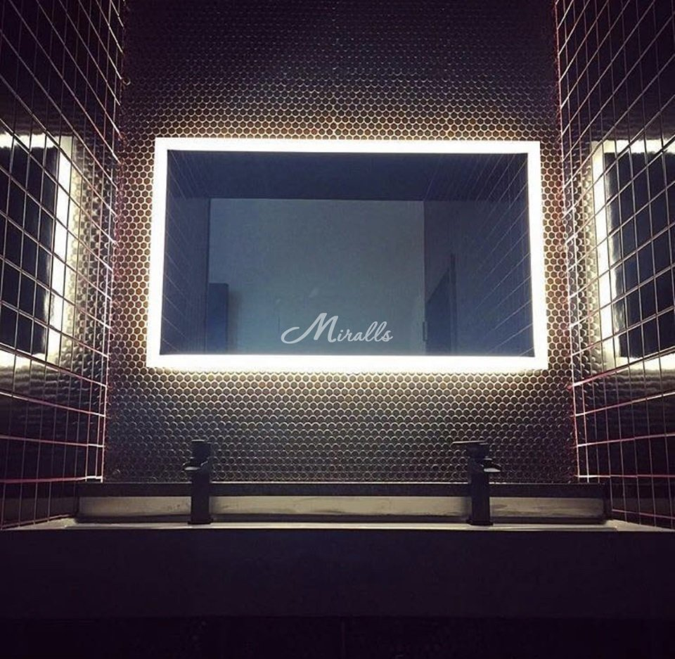 Зеркало Murano в санузле частной квартиры (ЖК Only)