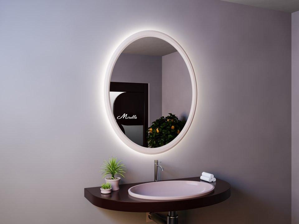 Зеркало Bella в белой деревянной раме