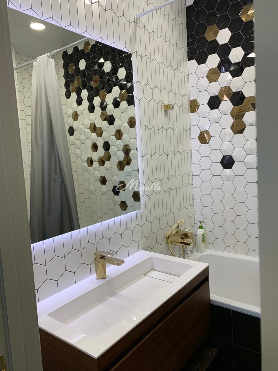 Зеркало Simple в санузле частной квартиры (ЖК Английский Квартал)