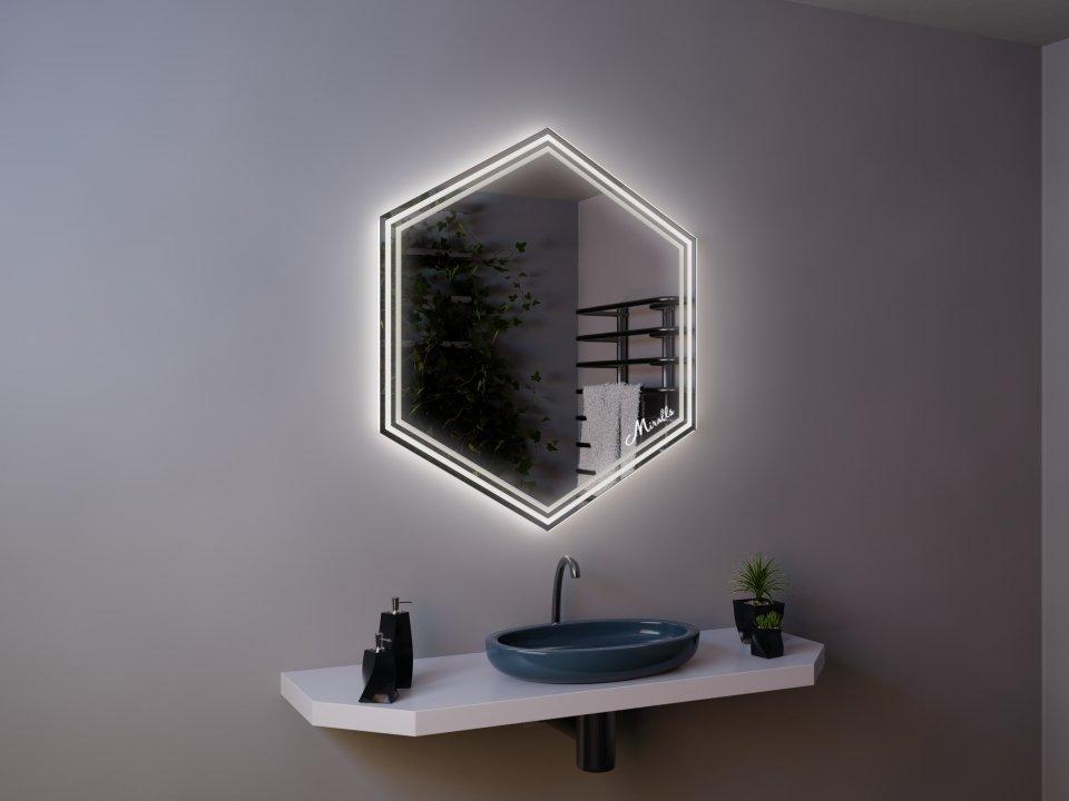 Зеркало с подсветкой Geometria