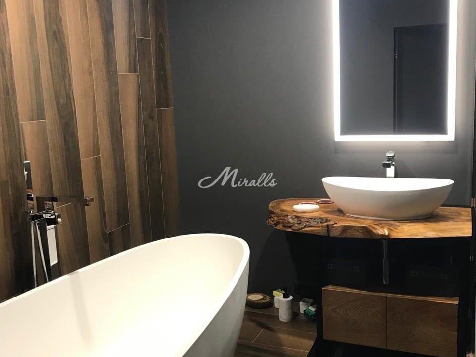 Зеркало Murano в роскошной ванной комнате (Савеловский Сити)