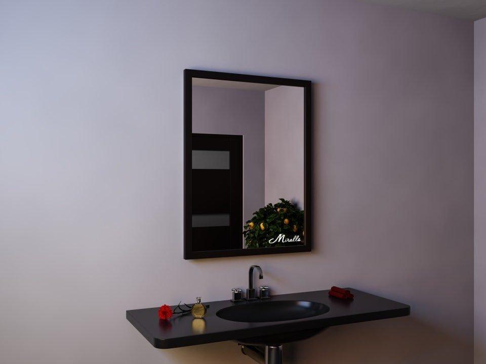 Зеркало без подсветки в деревянной раме Franco