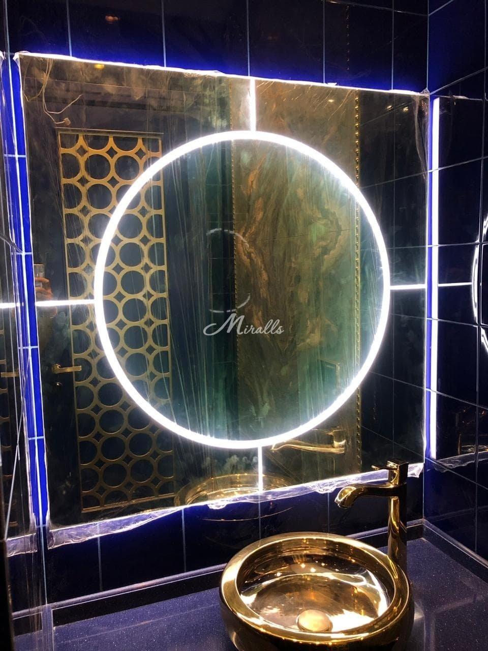 Зеркало Mirage после монтажа в ЖК Ривер Парк