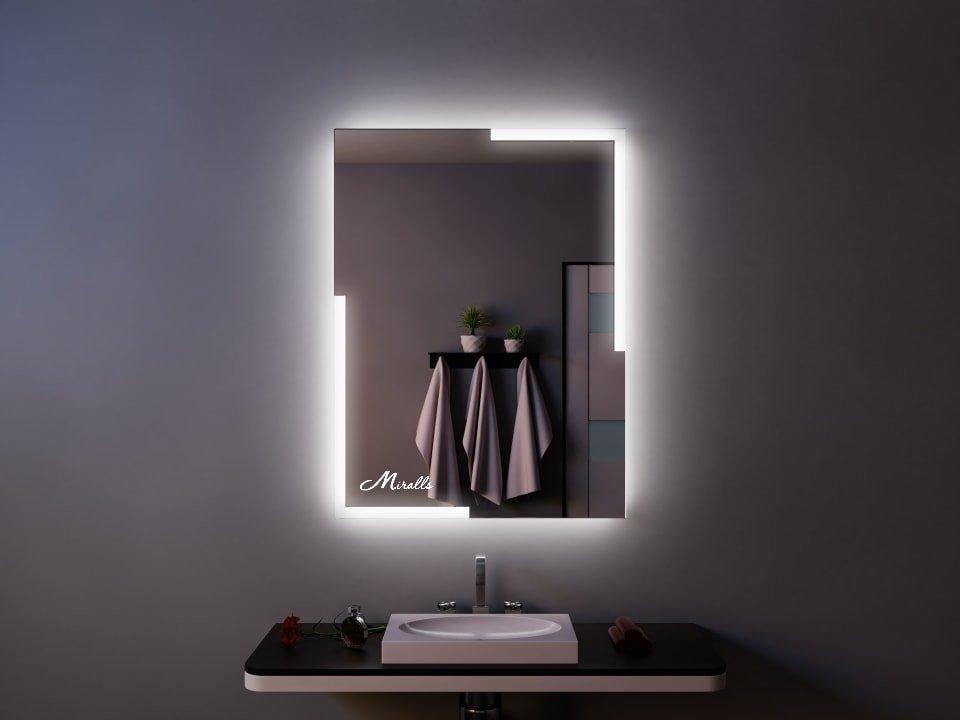 Зеркало с подсветкой в урбанистическом стиле Angle