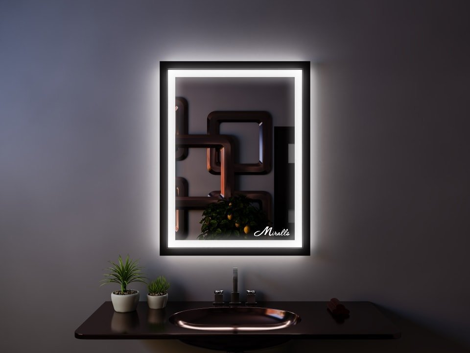 Зеркало с фронтальной подсветкой Bruno Plus