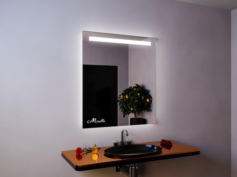 Зеркало с подсветкой в стиле лофт Norma