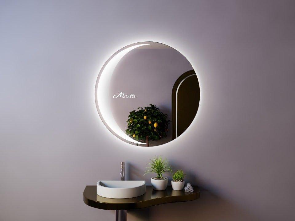 Круглое зеркало с подсветкой в стиле модерн Nova