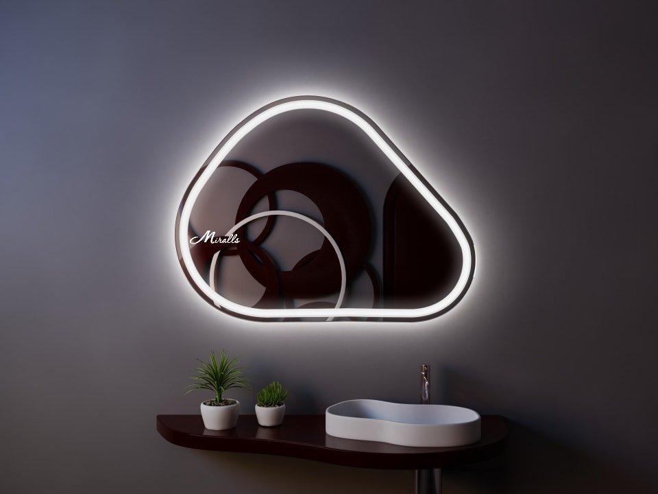 Интерьерное зеркало с подсветкой Opal Plus