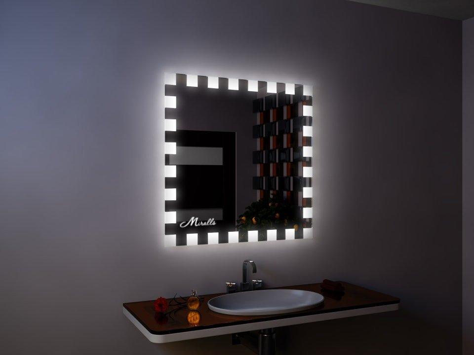 Квадратное зеркало с подсветкой Twist